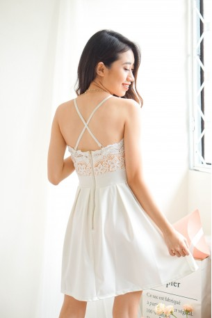 Heaven Sent Crochet Halter Neck Dress