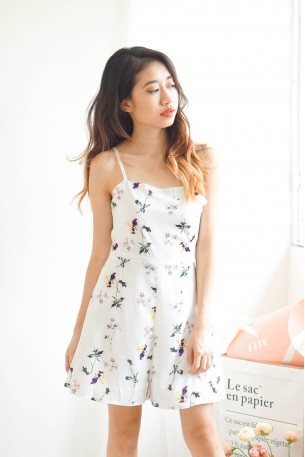 Skipped A Heartbeat White Floral Jumpsuit