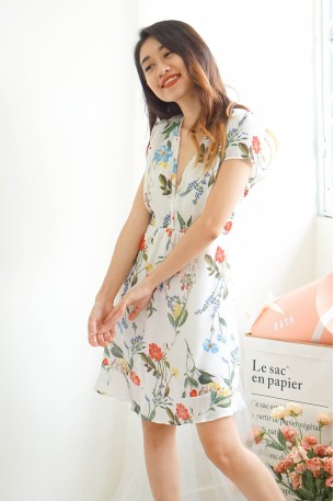 Wallflower V Neck Floral Dress