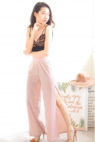 Natural Flirt Slit Pants in Pink