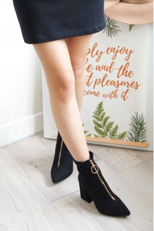 All The Way Up Ring Zipper Boots
