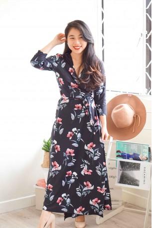 Second Autumn Floral Maxi Dress