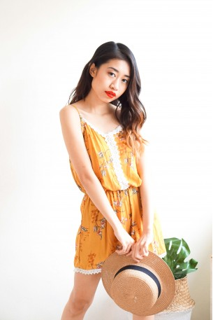 Tiger Lily Yellow Floral Jumpsuit