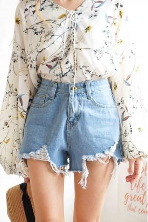 High Tide High Waisted Denim Shorts