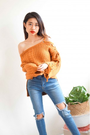 Fall Encounters Brown Knit Top