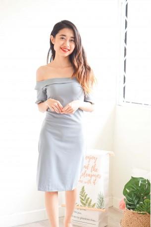 Dress Like Coco Blue Off Shoulder Dress