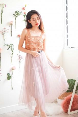 Like a Princess Pink Mesh Skirt