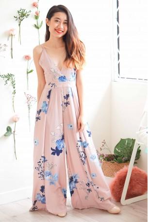 Peachy Affairs Floral Maxi Jumpsuit