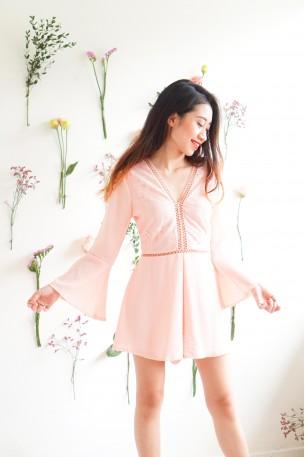Peach Perfect Pink Crochet Jumpsuit