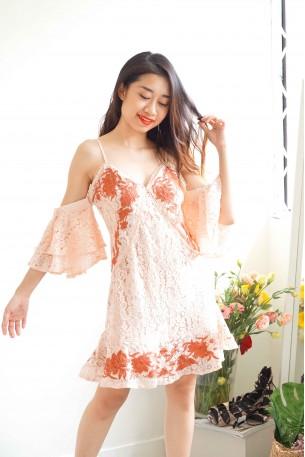 Mellow Nightlight Premium Lace Off Shoulder Dress
