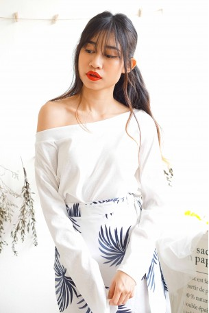 Your Own Skin White Oversized Off Shoulder Top