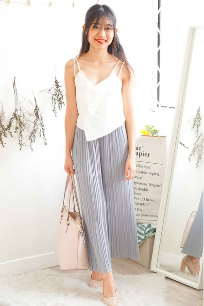 (BACKORDER) Faith and Love Pleated Pants in Grey