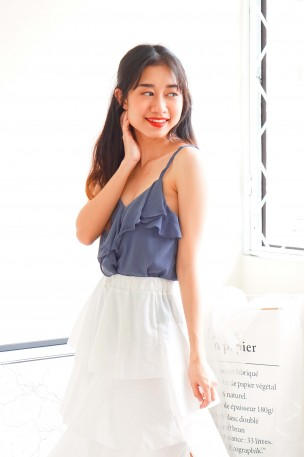 Main Attraction Ruffles Camisole in Blue