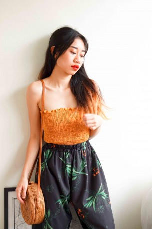 Fight You Tube Top in Mustard Yellow