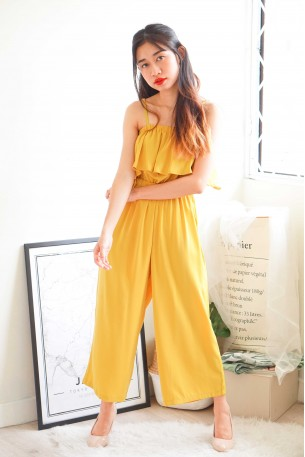 Guilty Confessions Mustard Yellow Jumpsuit