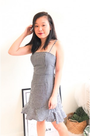 (BACKORDER) Drive Me Sane Gingham Ruffles Dress
