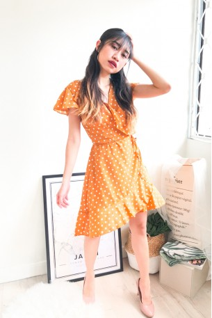 (BACKORDER) On My Wishlist Polkadot Ruffle Dress