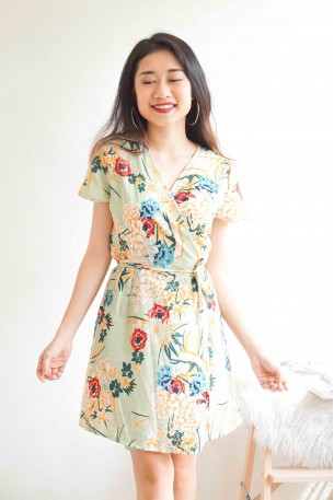 Primrose Princess Floral Self Tied Dress