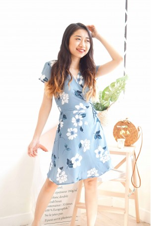 (BACKORDER) Garden of Thoughts Floral Wrap Dress