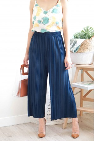 (BACKORDER) Faith and Love Dark Blue Pleated Pants