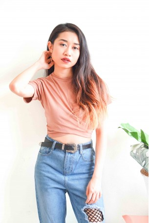Off Days Nude Crop Top