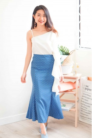 Ageless Beauty Blue Polkadot Skirt