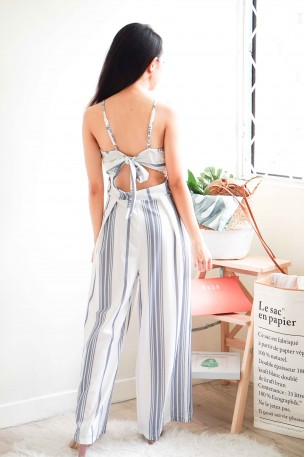 (BACKORDER) Stripes All The Way Maxi Jumpsuit