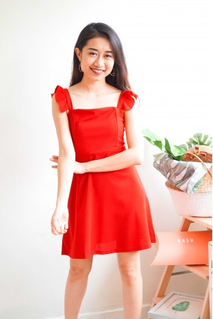 (BACKORDER) Meet Me Halfway Red Ruffles Dress