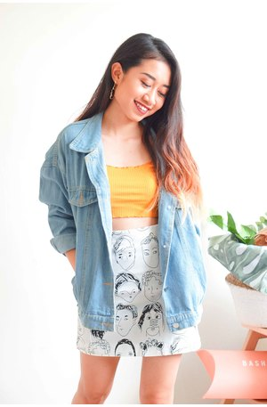 Toughened Up Oversized Denim Jacket