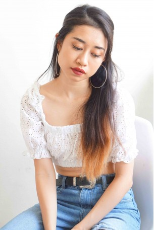 Missus No One White Blouse Crop Top