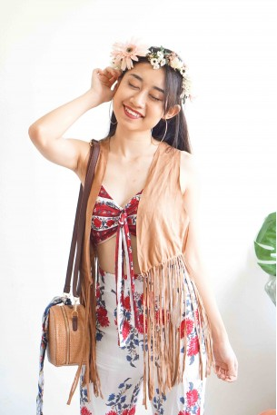 Wild Wild West Brown Fringe Vest