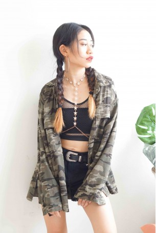 (BACKORDER) Homemade Dynamite Oversized Camo Jacket
