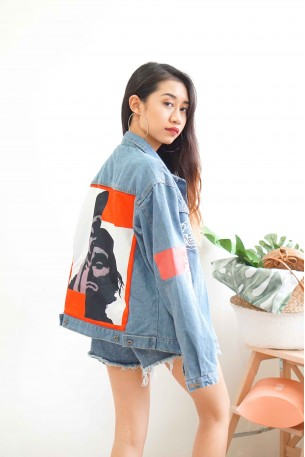 (BACKORDER) Flame Me Statement Denim Jacket