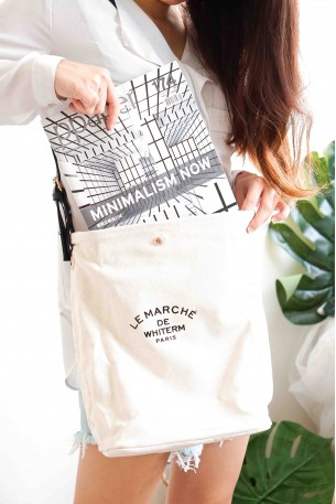 (BACKORDER) Little Parisian Canvas Bag in Black