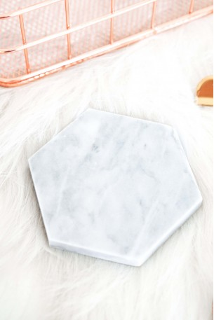 La Beau Hexagon Marble Coaster