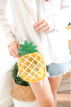 Sun Bathing Transparent Pineapple Bag