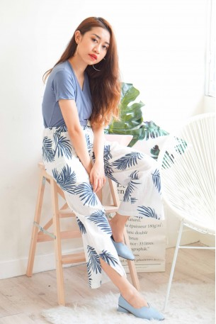 (BACKORDER) Sweet Serenity White Tropical Culottes