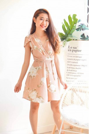 Gracious Intentions Nude Self Tied Dress