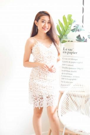 (BACKORDER) Dream Bride White Bodycon Lace Dress