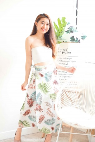 Sea and Breeze Self Tied Tropical Skirt