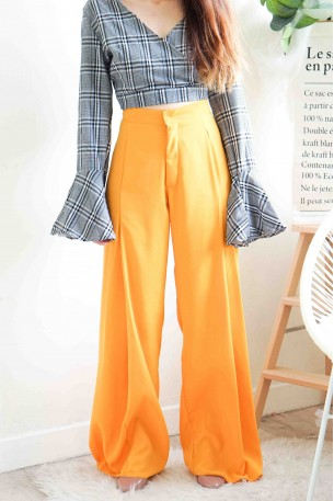 (BACKORDER) Untouched Romance Mustard Flare Pants