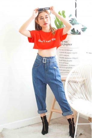 Walk Over You High Waisted Oversized Jeans