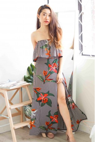 (BACKORDER) In The Meadow 2 Piece High Slit Skirt
