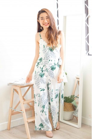 Chasing Winds White Floral Maxi Jumpsuit