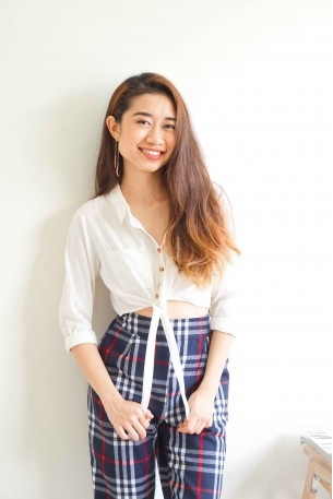 (BACKORDER) Self Employed White Button Down Top