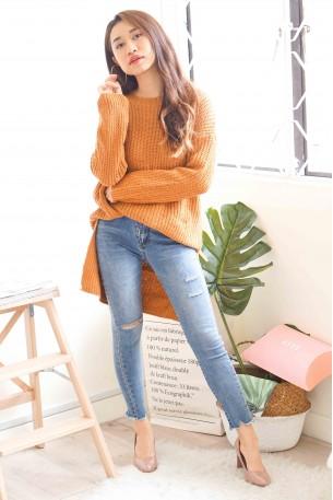 Caramel Baby Brown Sweater 3-Ways
