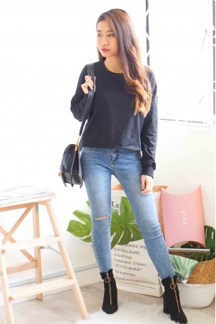 Plain Jane Black Sweater