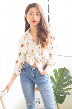 (BACKORDER) Last Summer Floral Button Down Top