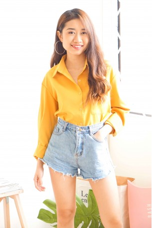 (BACKORDER) Into The Sun Yellow Long Sleeves Top