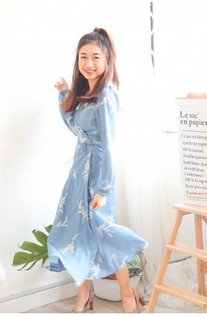 Dewy Afternoon Self-Tied Dress